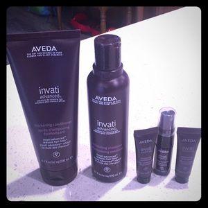 Aveda Invati Advanced Conditioner and Shampoo